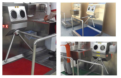 HB1020 - Disinfection System For Manual Hand Washing/Drying, Shoe Disinfection With Mat and Hand Disinfection With Turnstile 6
