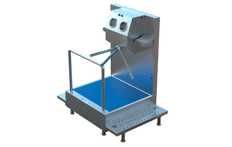 SM10 - Module for Shoe Disinfection With Mat and Hand Disinfection with Turnstile 3