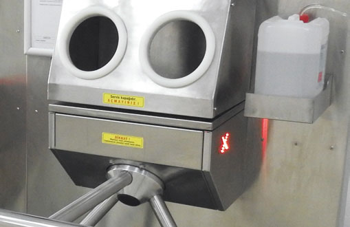 SM10 - Module for Shoe Disinfection With Mat and Hand Disinfection with Turnstile 5