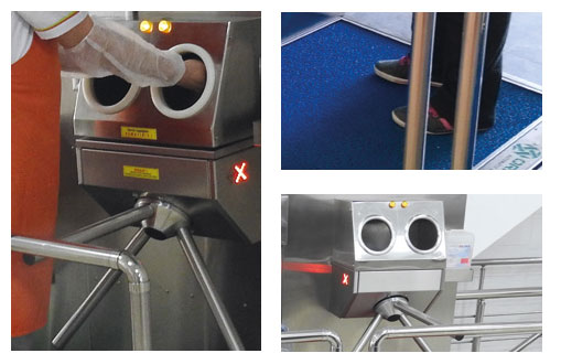 SM10 - Module for Shoe Disinfection With Mat and Hand Disinfection with Turnstile 6