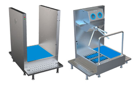 SM104050 - Disinfection System for Clothes Disinfection, Hand Disinfection with Turnstile and Shoe Bottom Disinfection With Washing Brushes 18