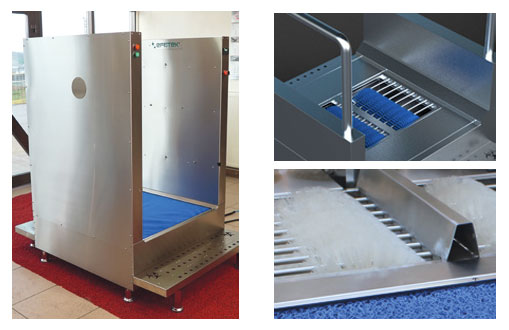 SM104050 - Disinfection System for Clothes Disinfection, Hand Disinfection with Turnstile and Shoe Bottom Disinfection With Washing Brushes 21